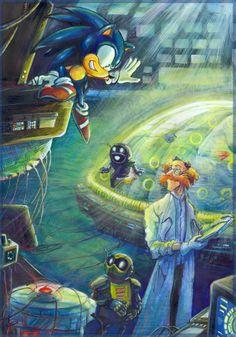 'Thank you!' - Sonic and Dr. Kinrobor - by Liris by Liris-san.deviantart.com on @deviantART