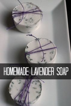 These lavender soap bars smell nice and make a practical homemade gift that everyone could use. You could give them alone or as part of a spa gift basket. Get the instructions at Life as for adults diy homemade gifts Homemade Lavender Soap Bars Diy 2019, Soap Tutorial, Lavender Soap, Lavender Crafts, Lavender Recipes, Lavender Uses, Homemade Christmas Gifts, Simple Christmas Gifts, Christmas Crafts To Sell Handmade Gifts