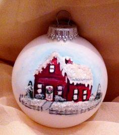 Handpainted House Ornament