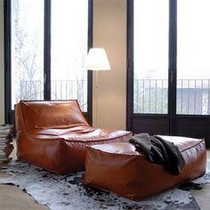 Mrs Boho: Salones: con sofá de cuero
