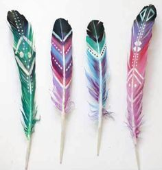 DIY Beautiful Painted Feathers!