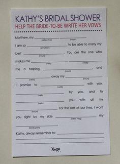 Printable Bridal Shower Libs  PDF File by InvitationsByTiffany, $20.00