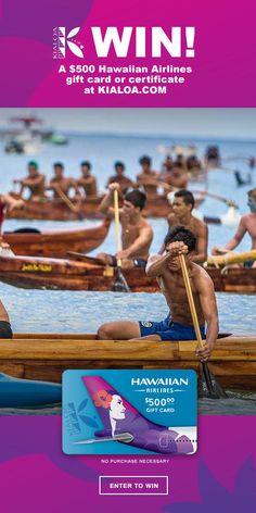 Win a $500 Hawaiian Airlines Gift Card!