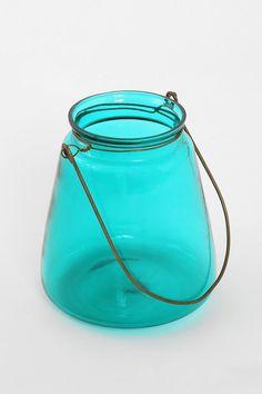Glass Jar Candle Holder