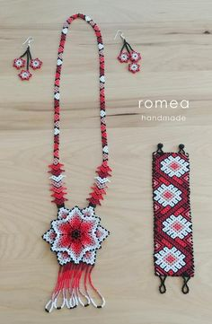Items similar to Gorgeous Handmade Beaded Chaquira Necklace - Mexican - Romea Accessories - Huichol art piece - Black/ Multicolor / White Orange on Etsy Seed Bead Necklace, Seed Bead Bracelets, Seed Bead Jewelry, Bead Jewellery, Beaded Earrings, Beaded Jewelry, Handmade Jewelry, Bead Loom Patterns, Beading Patterns