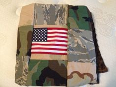 Personalized Military baby blanket