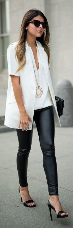 Black And White Chic Outfit Inspo by The Girl From Panama