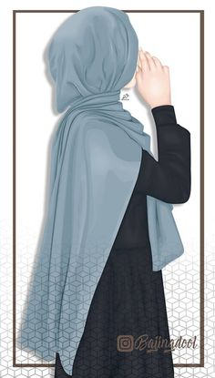 A scarf is the central portion inside the garments of girls having hijab. Anime Muslim, Muslim Hijab, Hijabi Girl, Girl Hijab, Muslim Pictures, Hijab Drawing, Lovely Girl Image, Muslim Women Fashion, Hijab Cartoon