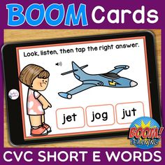 THIS IS AN INTERACTIVE DIGITAL RESOURCE. Download the preview to play a shortened version of the Boom Deck – this will help you decide if the resource is suitable for your students. ABOUT THIS BOOM DECK: Students will look at the picture, listen to the word, then tap on the word with the short E sound, from a choice of three words.