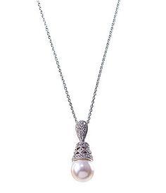 Nadri Pearl Drop Pendant Necklace #Dillards