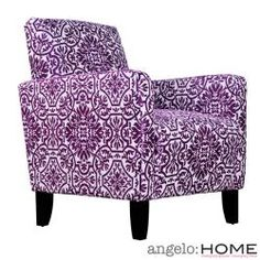 angelo:HOME Sutton Modern Damask Provence Purple Arm Chair ~  . . . love this fun color and print! ❤