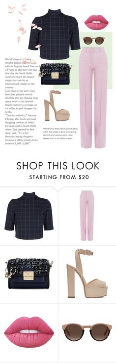 """vintage pastel"" by stylebyaren ❤ liked on Polyvore featuring Post-It, Paul & Joe, Karl Lagerfeld, Giuseppe Zanotti, Lime Crime and vintage"