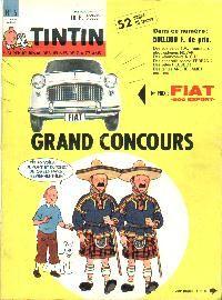 Journal de TINTIN édition Belge N° 6 du 6 Février 1962 Grand concours