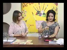 Craquelê no vidro - Artesã Marisa Magalhães - Aquarela Brasil Tintas - Parte 1/2 - YouTube