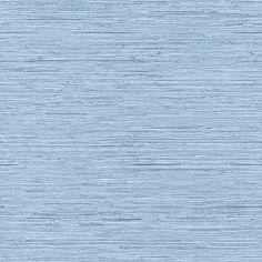 York Wallcoverings WB5504 Nautical Living Horizontal Grass Cloth Wallpaper, Faded Denim Blue/Chambray Blue/Grey