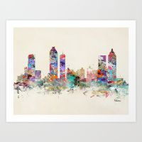Atlanta Georgia Skyline Art Print