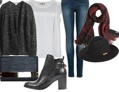 Rajoutez un bon manteau par dessus et vous prêtes pour le froid ! Ici : http://stylefru.it/s974086 #tenuehiver #cardigangris