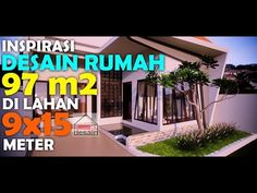 Inspirasi Desain Rumah 97 Meter Persegi di Lahan 9x15 Meter - YouTube Architecture Portfolio, Outdoor Decor, Modern, Youtube, Channel, Home Decor, Homemade Home Decor, Trendy Tree, Decoration Home