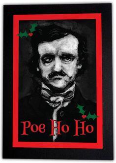 PoeHoHo Christmas Card by amaranthasashes on Etsy, $5.50