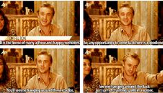 "tom felton: ""you'll see me hanging around the back just sort of chanting spells in a corner."" LOL"