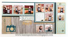 Karen Pedersen: Blessed Little Moments Layout