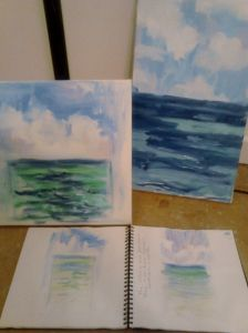 Beach sketches to canvas--An Artsty Day on Seaside's 30-A @Wendy Werley-Williams.thepursesproject.wordpress.com