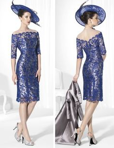 Cheap Mother of the Bride Dresses, Buy Directly from China Suppliers: New 2015 vestido mae da noiva Lace Mother Of The Bride Dress Knee Length Long Satin Coat Stand Collar Women Occa