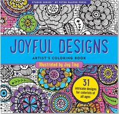 Stress-Relieving Adult Coloring Books // I own each and every one of these coloring books and highly recommend them.