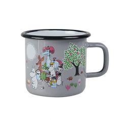 Moomin Enamel Mug - Garden (Grey)