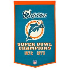 Miami Dolphins NFL Dynasty Banner (24x36)