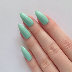 Pastel Green Stiletto nails, Nail designs, Nail art, Nails, Stiletto... ($19) ❤ liked on Polyvore featuring beauty products, nail care, nail treatments and nails