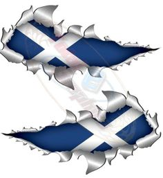 Large size St Andrew Scottish Metal Rip Open Sticker 4X4 Truck Van