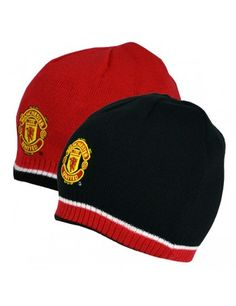 3d424b54e0c Manchester United Reversible Knitted Hat  Manchester United  Football  Hat