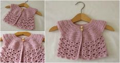 Easy Lace Baby Cardigan – Crafting Time