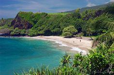 Hamoa Beach; Hana Coast, Maui, Hawaii... I drove the hana road on my first whole day on Maui. It was a wonderful day!