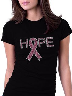 Pink Ribbon Breast Cancer Awareness Rhinestone by RascoPrints, $18.99