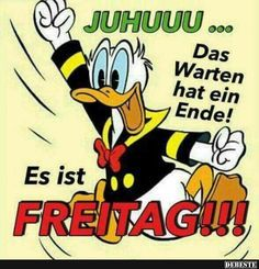 Juhuuu.. | Lustige Bilder, Sprüche, Witze, echt lustig Cool Pictures, Funny Pictures, Morning Greeting, Just Kidding, Disney Cartoons, Man Humor, Morning Quotes, Donald Duck, Good Morning