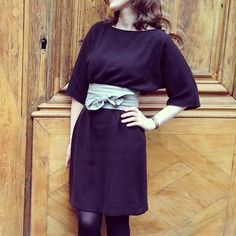Du Bling Bling sur le blog #kimonodress #salmepatterns #sewing #bureaucompatible