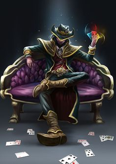 twisted fate league of legends fan art Lol League Of Legends, Starcraft, Desenhos League Of Legends, Game Character, Character Design, Splash Art, Cthulhu, Lol Champions, Twisted Fate