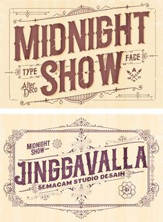 Midnight Show typeface on Behance