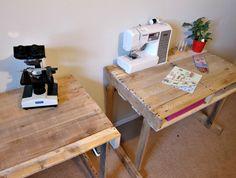 Yay Apartmenting : DIY Pallet Desks
