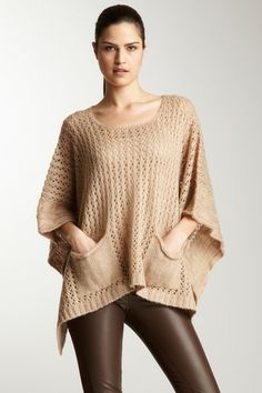 Knit Poncho - finally, a nice lightweight poncho for coolish weather, and the pockets are a really nice touch.