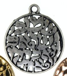 Shema Israel pendant for making Jewish jewelry pewter by Bluenoemi