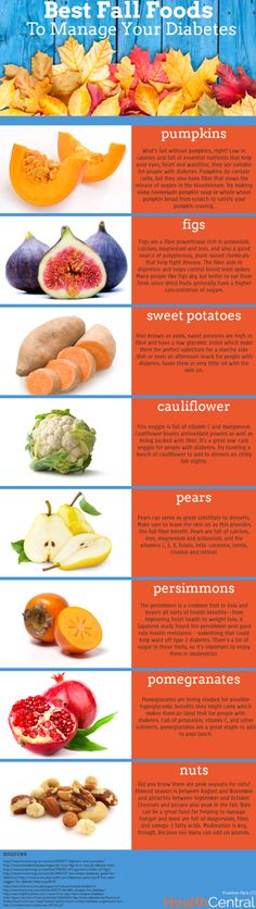 Diabetes Infographic: The best #Fall foods for diabetics! #diabetes #health