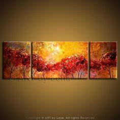 """Summeridge Sunset"" - Original Landscape Art by Lena Karpinsky, http://www.artbylena.com/original-painting/136/summeridge-sunset.html"