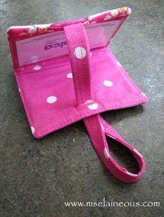 Ms. Elaineous Teaches Sewing: Free Pattern: The Secret Luggage Tag. Tutorial.  #FASHION MK BAGS# MICHAEL KORS