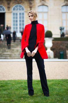Elena Perminova in Dior   - HarpersBAZAAR.com