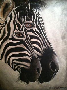 Zebras Watercolor Painting by BrandyRoseArt.com #zebra #watercolor #painting