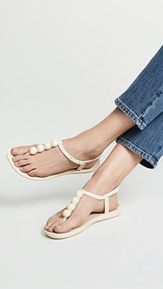 Ipanema Pearl T-Strap Sandals Flat Shoes Outfit, Shoes Flats Sandals, White Sandals, T Strap Sandals, Strappy Sandals, Women Sandals, Ipanema Sandals, Spring Sandals, Comfortable Fashion