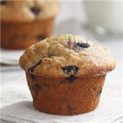 Banana-Blueberry Muffins, Recipe  The slight acidity of buttermilk tenderizes and moistens baked goods while allowing you to cut way back on butter or oils.  Here, it also lends a slight tanginess to the winning combination of bananas and blueberries.